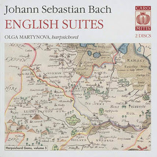 J. S. Bach. English suites. Olga Martynova, harpsichord SACD Surround, Caro Mitis, 2009