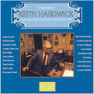 In memoriam Keith Hardwick. Rare recordings from his own collection CD, Pearl