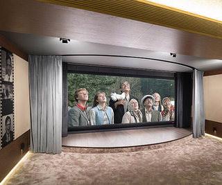 Инсталляционный проект: домашний кинотеатр со сценой для детского театра