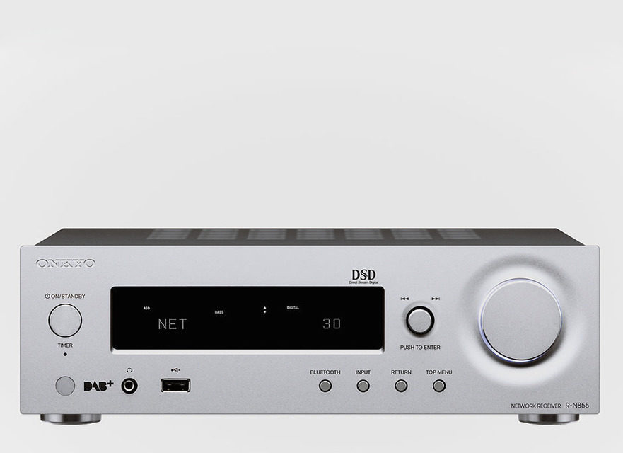 Сетевой стереоресивер Onkyo R-N855 поддерживает Google Cast, AirPlay и Bluetooth