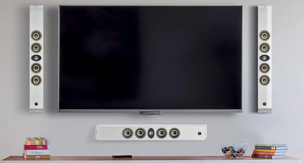 Настенные системы линейки Focal On Wall 300: алюминиево-магниевый твитер и диффузоры динамиков из льняного композита