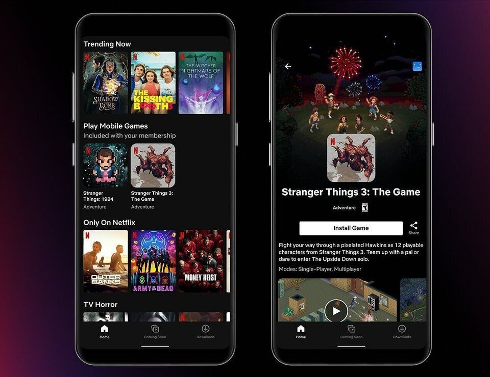 Netflix начала тестировать функцию бесплатного доступа к играм в мобильном приложении