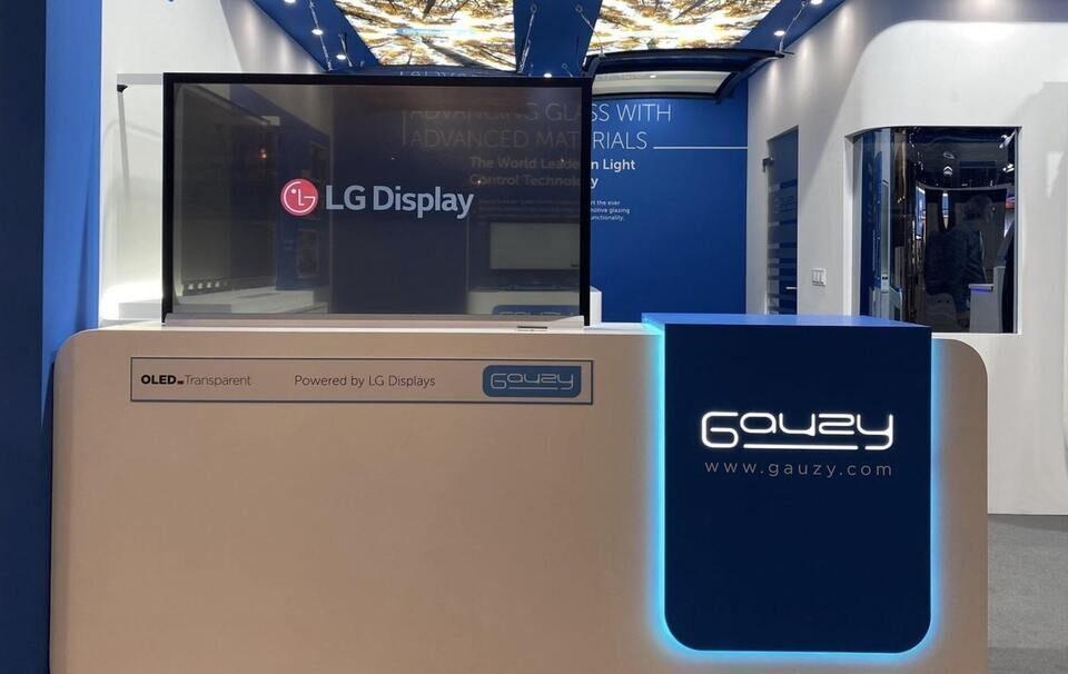 LG и Gauzy создали прозрачные OLED-экраны с SPD-регулировкой яркости внешней засветки