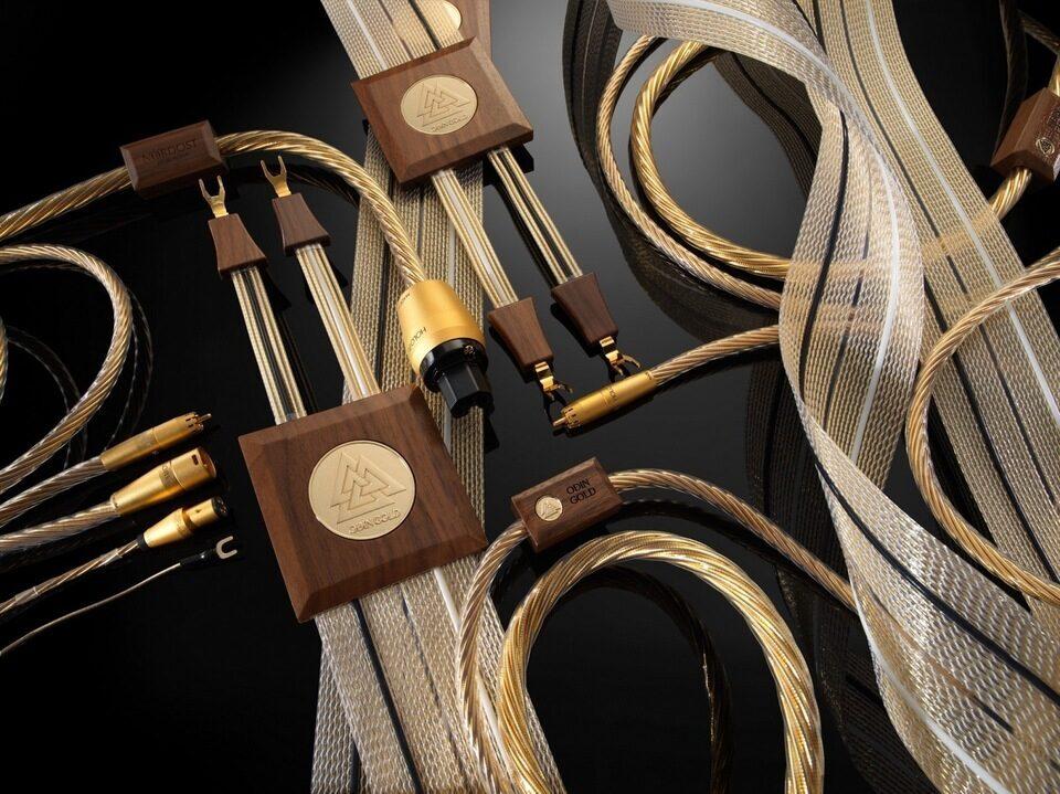 Кабели Nordost Odin Gold: медь 99,999999% в позолоте TSC, изоляции Dual Mono-Filament и с разъемами Holo:Plug
