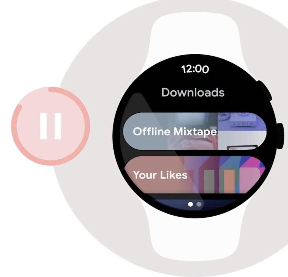 Умные часы Google Wear смогут скачивать треки с YouTube Music и Spotify