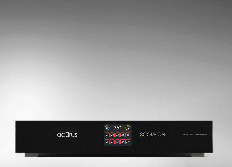 Мультизонный усилитель Acurus Scorpion: 10 зон и 16 каналов по 40 Вт