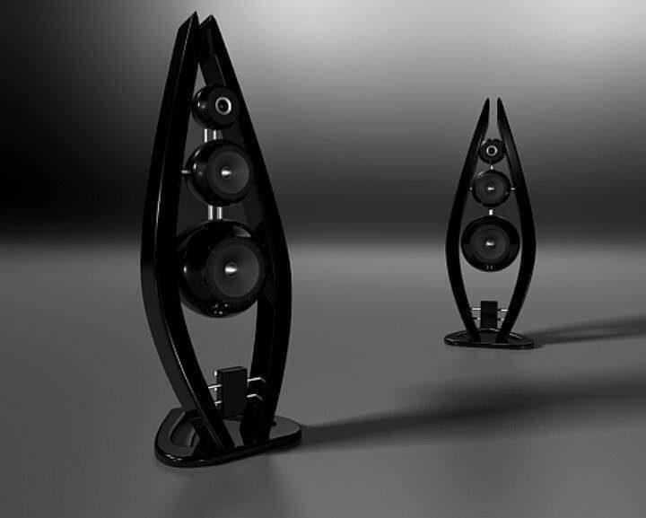 Акустика Sup Audio Black Velvet: шарообразные кабинеты в изогнутых колоннах
