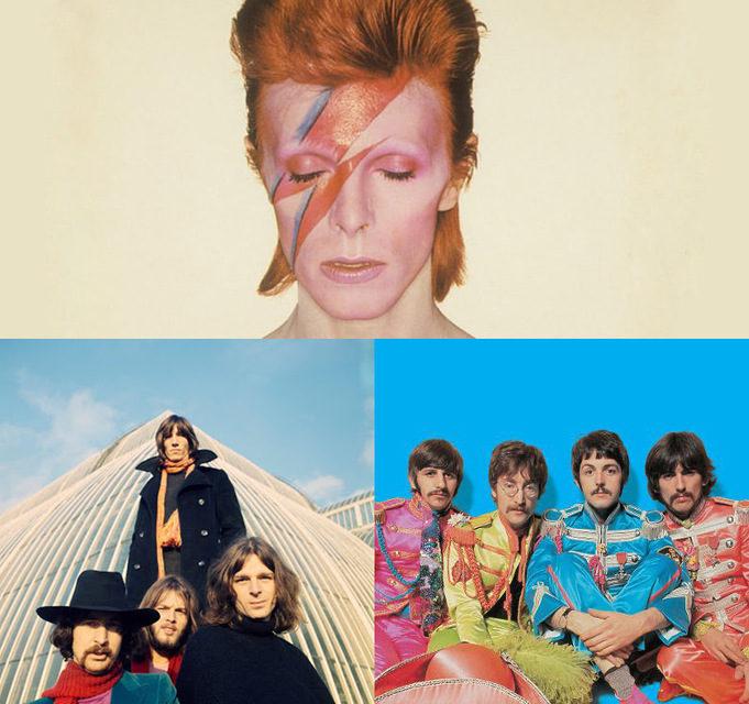Популярность The Beatles, Pink Floyd и Дэвида Боуи растет на продажах физических носителей