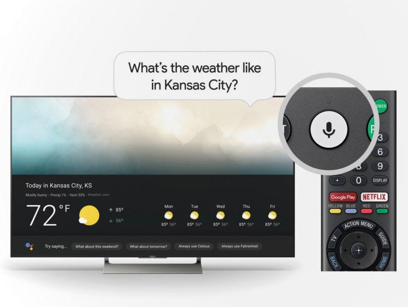На телевизорах Sony появился голосовой помощник Google Assistant