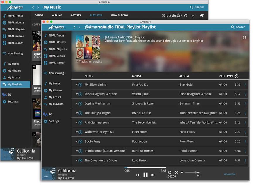В программный аудиоплеер Amarra 4 Luxe добавили поддержку MQA