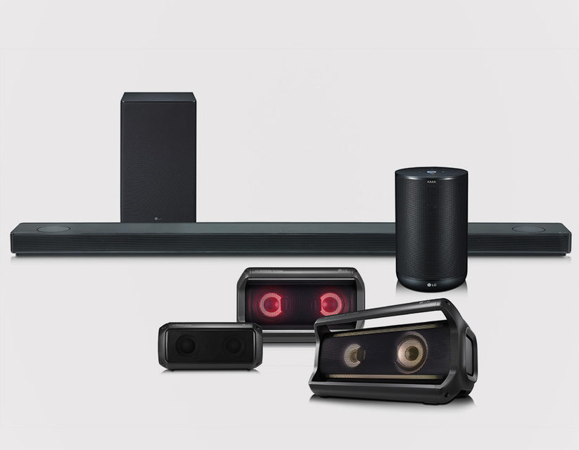 LG представит на CES 2018 саундбар с Dolby Atmos, портативные колонки и умную акустику