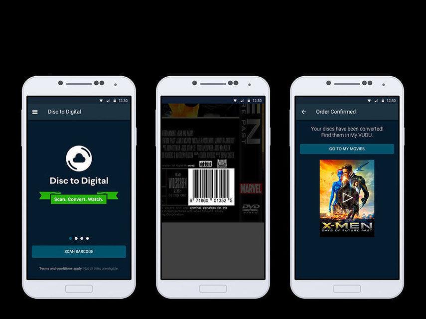 Сервис Vudu добавил в мобильное приложение опцию для конвертации DVD и Blu-ray в цифровые облачные версии
