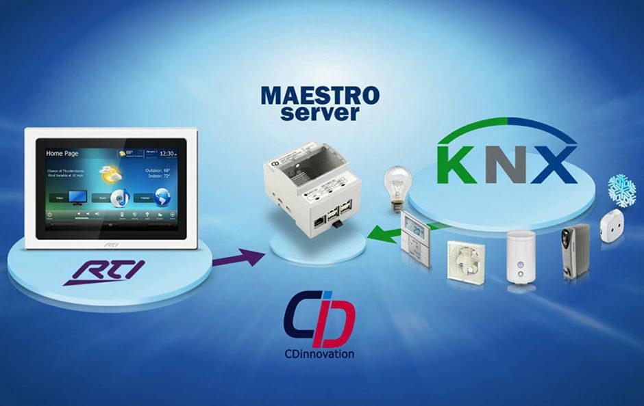 CDinnovation представила шлюз Maestro Server для интеграции RTI с протоколом KNX