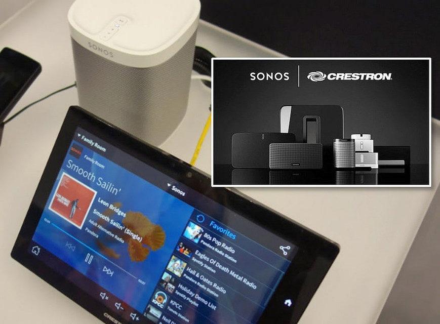 В США продукция Sonos стала доступна для заказа через Crestron