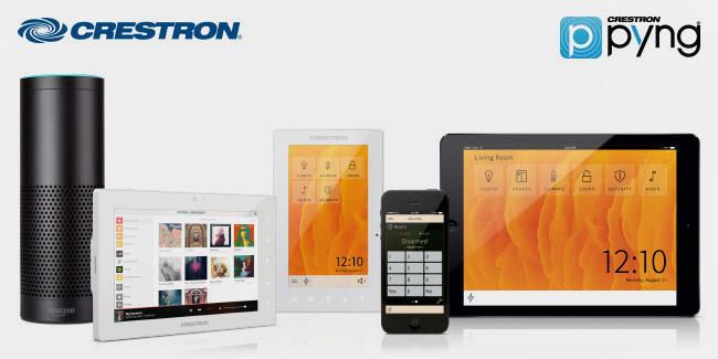 В новую версию ПО Crestron Pyng добавили поддержку Amazon Alexa и Sonos