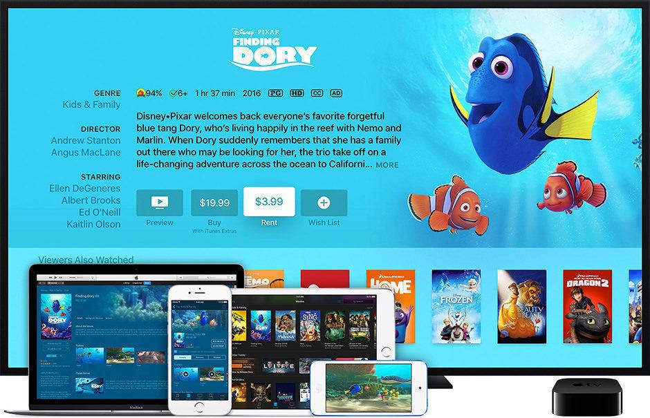 Apple увеличила срок проката фильмов до 48 часов