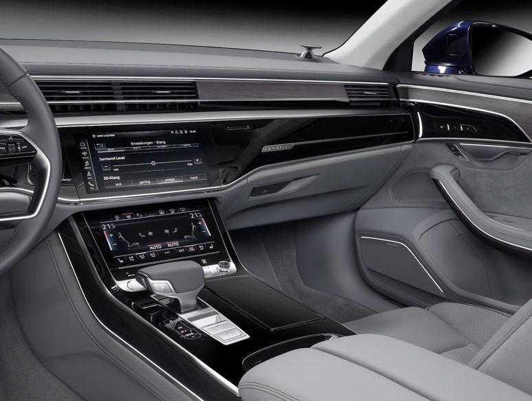 В Audi A8 задействовали аудиосистему 3D Advanced Sound System от Bang & Olufsen
