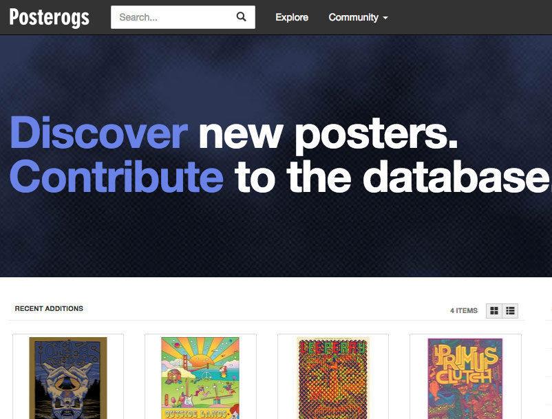 Discogs запустил барахолку для постеров Posterogs