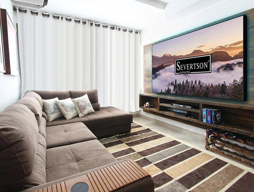 Severtson Screens показала на CEDIA 2017 проекционные экраны 4K Thin Bezel с узкими алюминиевыми рамами