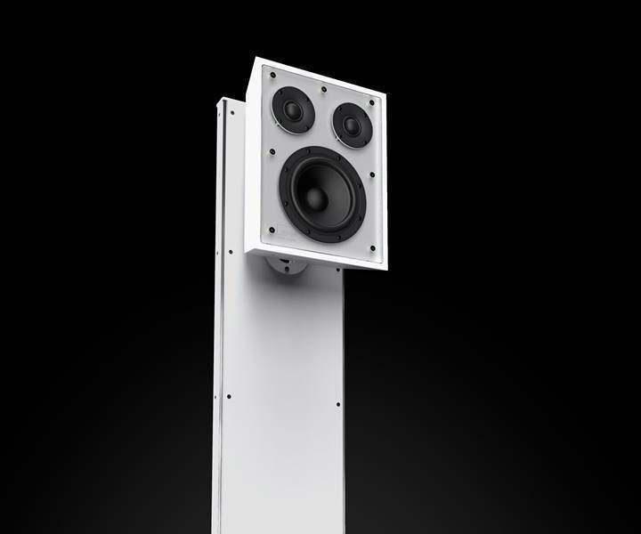 Мониторную акустику Ologe Acoustic One поставили на бионическую треногу