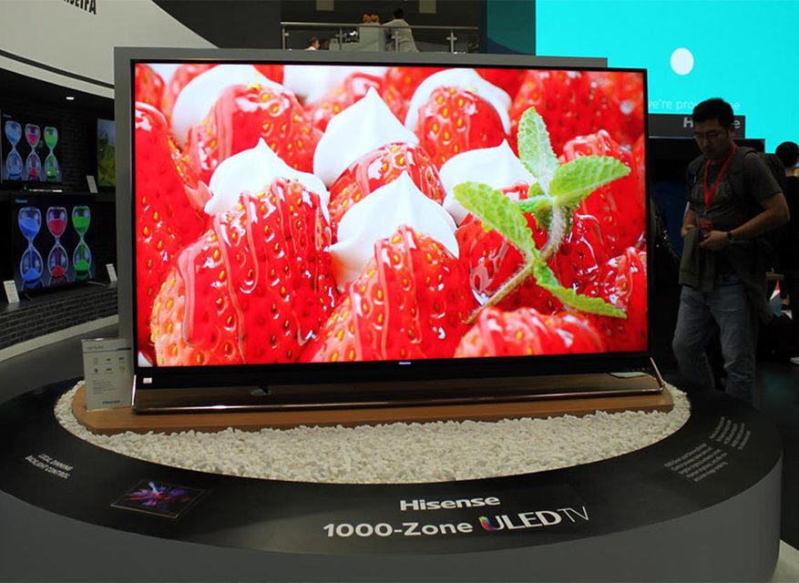 Hisense представила ЖК-телевизор с 1056 зонами подсветки и 8K-телевизор