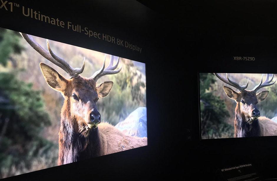 Sony показала прототип 8K HDR телевизора с яркостью в 10 000 нит