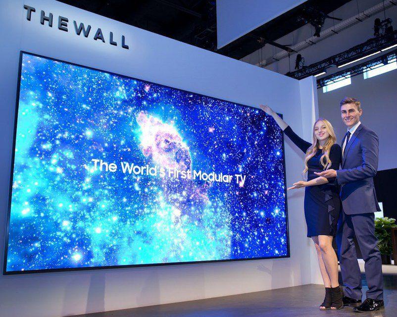 Samsung показала 146-дюймовый модульный MicroLED-телевизор The Wall