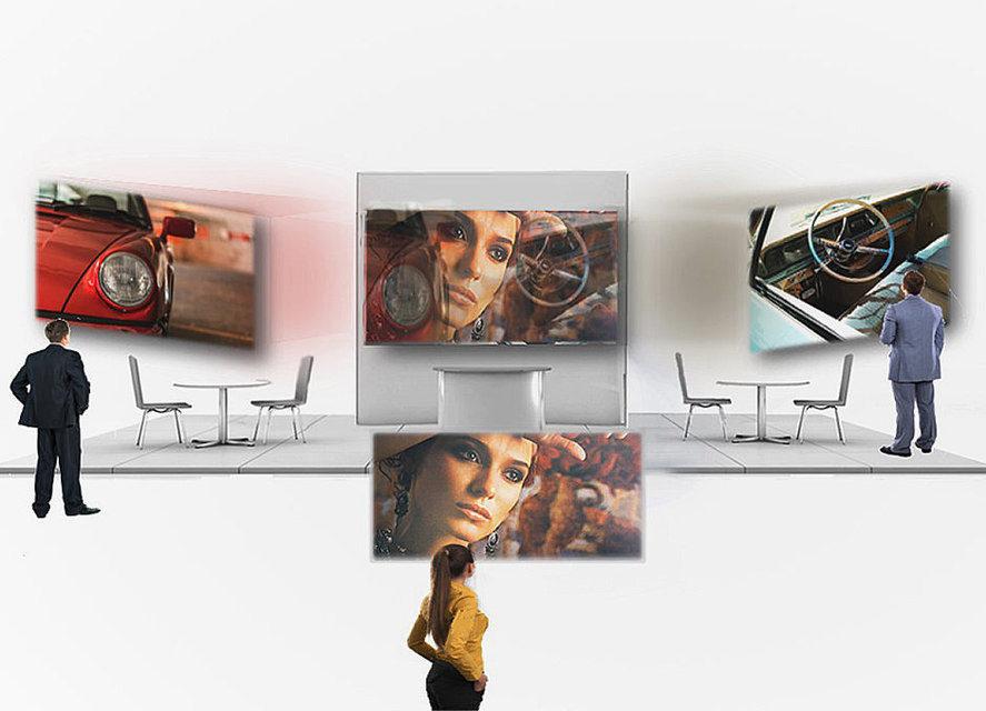 Экран MirraViz позволит смотреть одновременно несколько фильмов с нескольких проекторов
