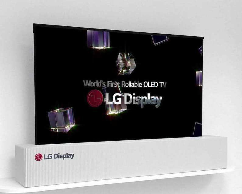 LG показала прототип сворачивающегося OLED-телевизора