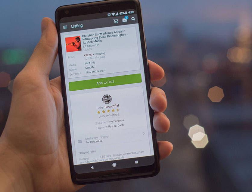 Discogs добавила в приложение на Android возможность покупки