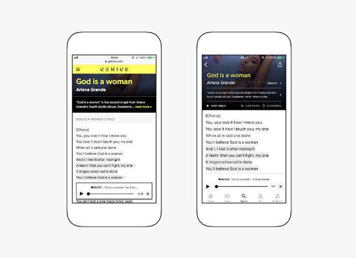 В Apple Music добавили тексты песен с сервиса Genius