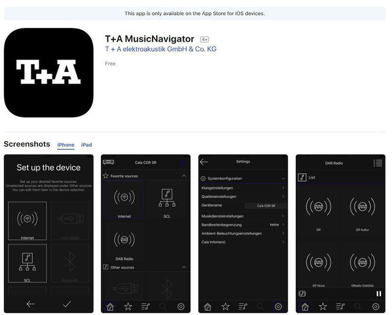 T+A выпустила новое приложение для управления сетевыми плеерами T+A MusicNavigator