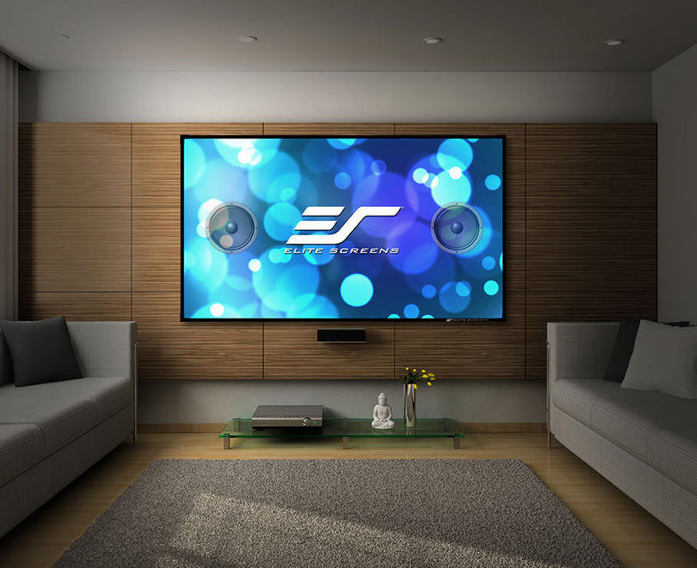 Elite Screens выпустила безрамочный акустически прозрачный экран Aeon AcousticPro UHD для 4K/HDR-изображения