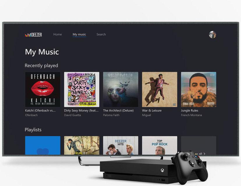 Музыку с потокового сервиса Deezer теперь можно слушать во время игр на Xbox One