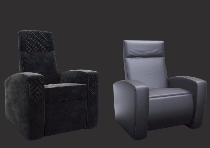 Моторизированные кинотеатральные кресла Ineva Design: широкий выбор опций и обивка на заказ