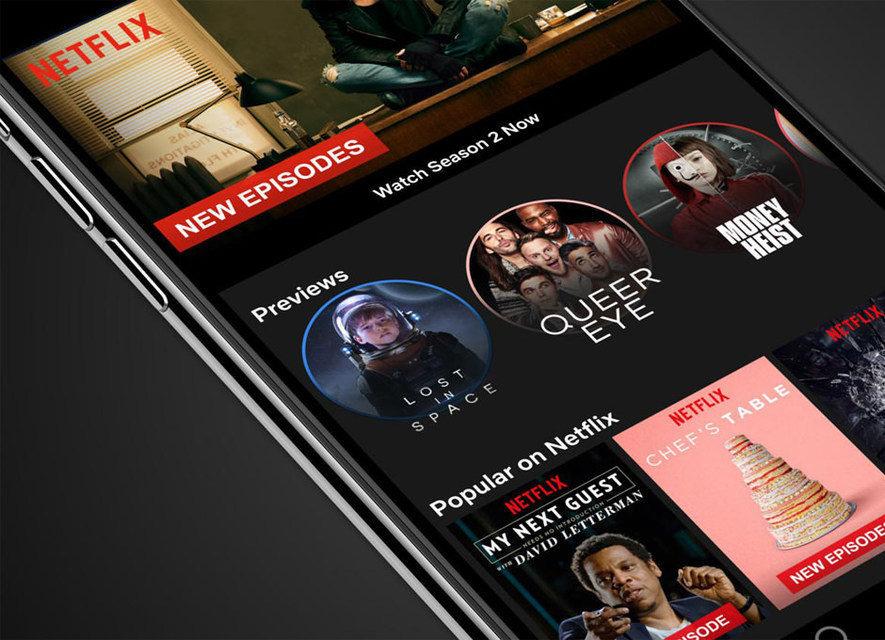 Netflix заменила в мобильной версии скриншоты в описаниях сериалов на видеоотрывки