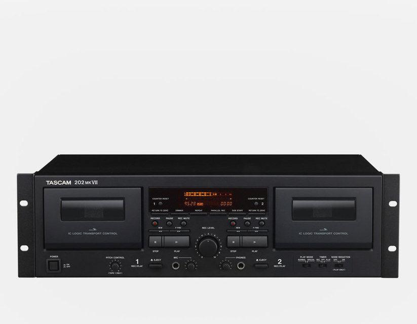 Tascam выпустила двухкассетный магнитофон 202mkVII с АЦП и USB