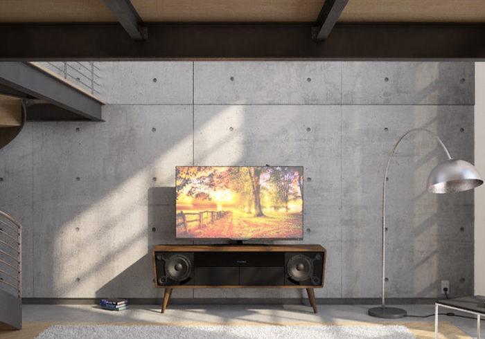 Канадский стартап MeiliAudio: деревянные ТВ-консоли со встроенными динамиками в стиле ретро