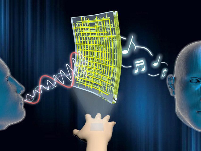 Ученые нанесли на кожу динамик и микрофон