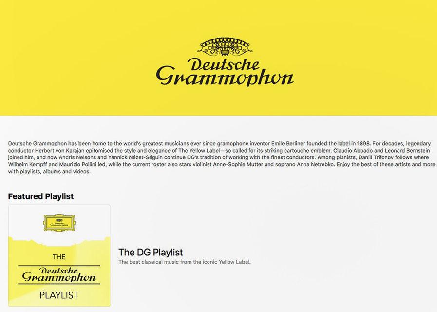 Deutsche Grammophon займется плейлистами классики в Apple Music