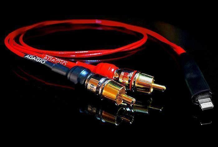 Black Rhodium Adagio: кабель-переходник от усилителя к смартфону с коммутацией USB C, Lightning или 3,5 мм