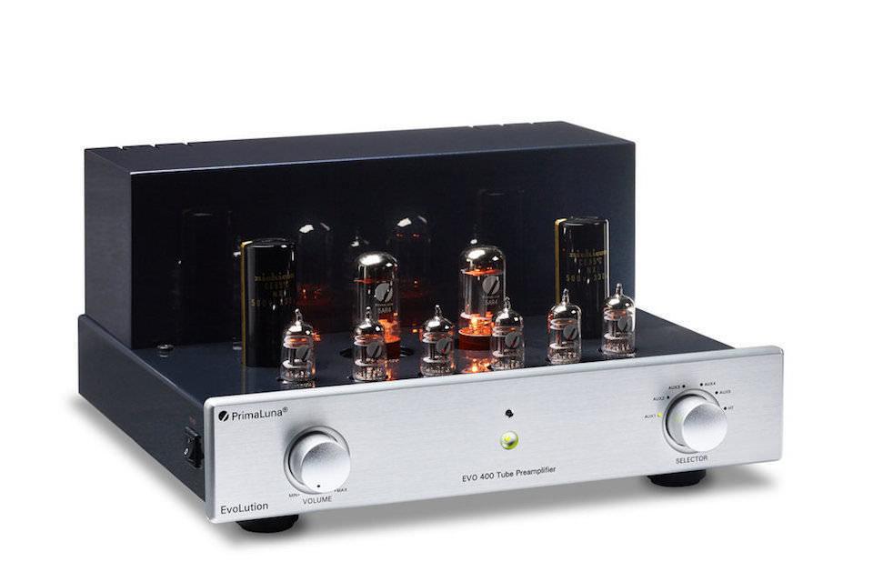 Ламповый предусилитель PrimaLuna EVO 400 Pre: двойное моно и подавление шумов SmartGain