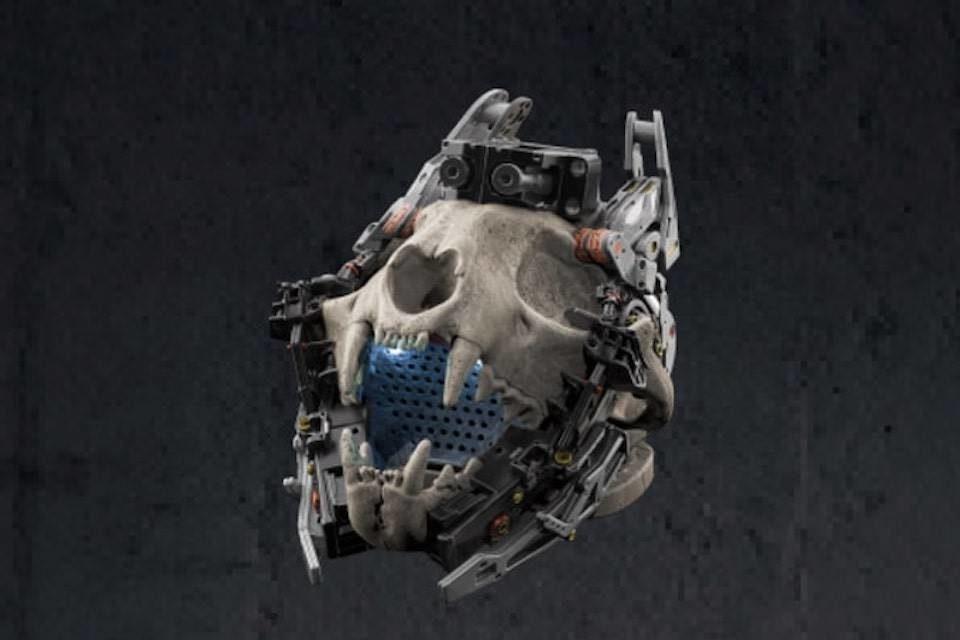 Гонконгские разработчики сделали киберпанк-колонку Kranio в форме черепа рыси