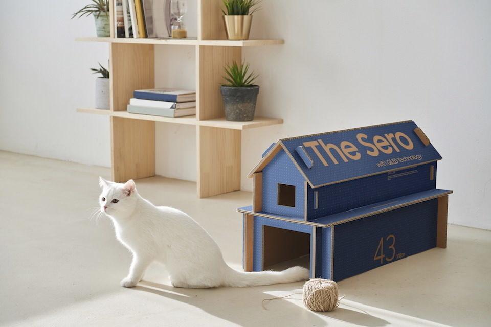 Samsung совместно с журналом Dezeen запустила конкурс креативных проектов из картонных коробок