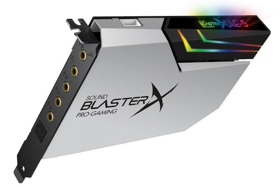 Creative выпустила ограниченную версию звуковой карты Sound BlasterX AE-5 Plus Pure Edition