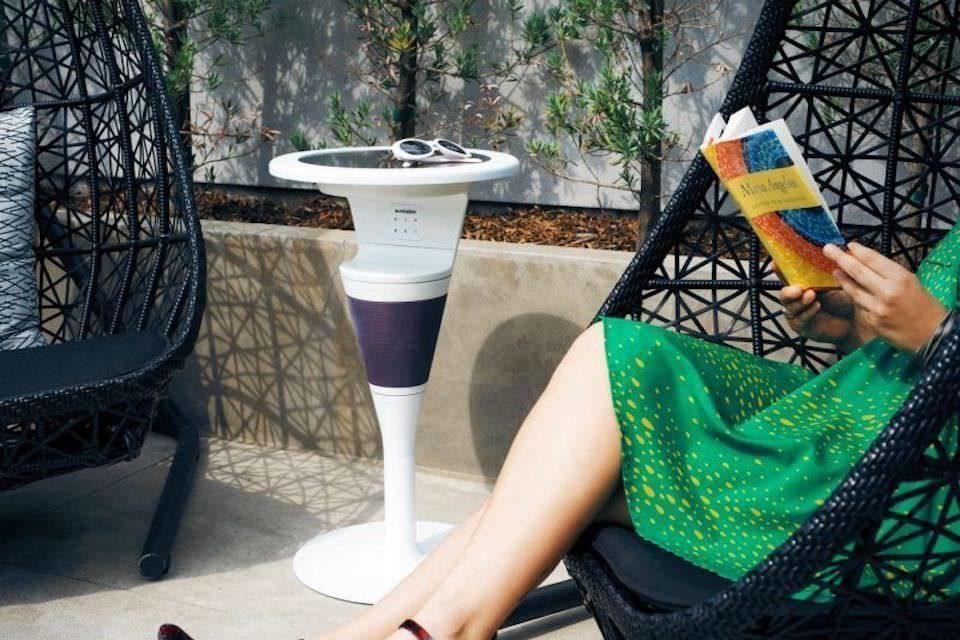 Suntable ShadeCraft: стол-колонка с солнечной панелью