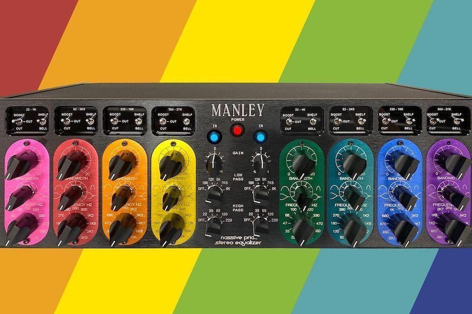 Manley выпустила ламповый эквалайзер Massive Passive в радужном варианте