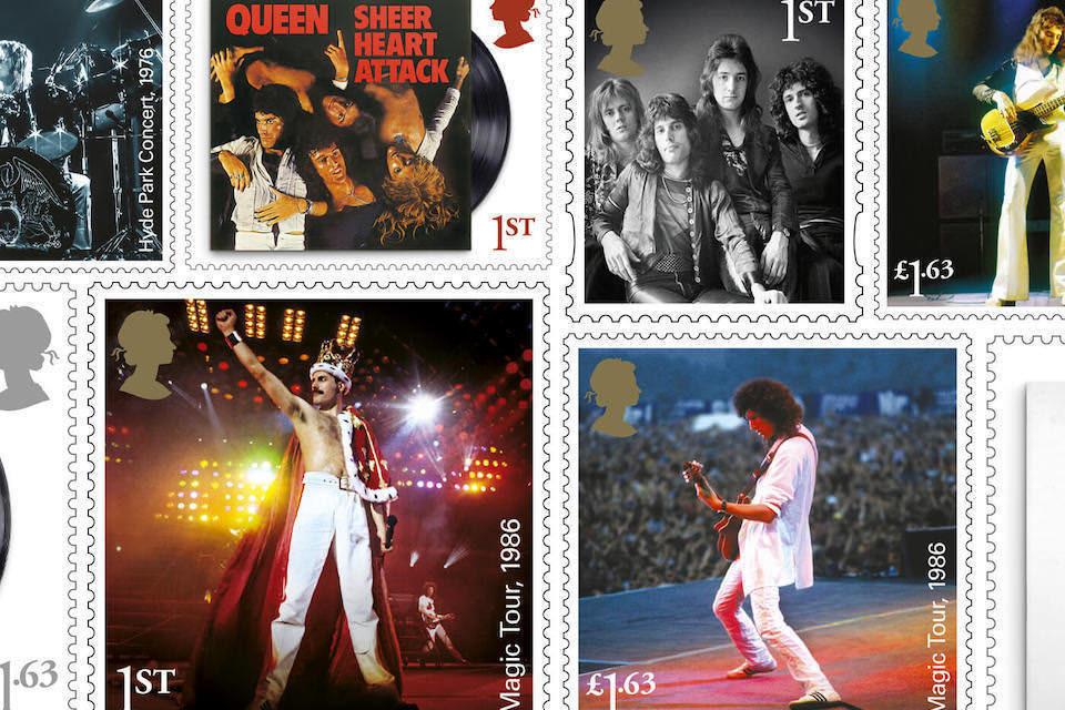 Британская почта выпустила коллекцию марок в честь группы Queen