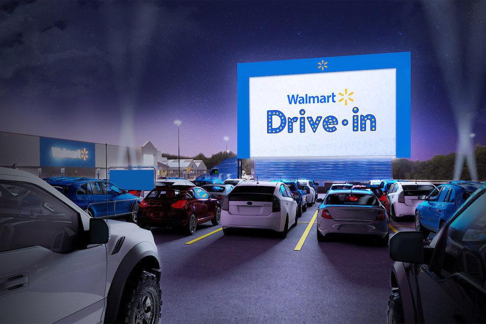 Walmart установит автомобильные кинотеатры на парковках своих гипермаркетов