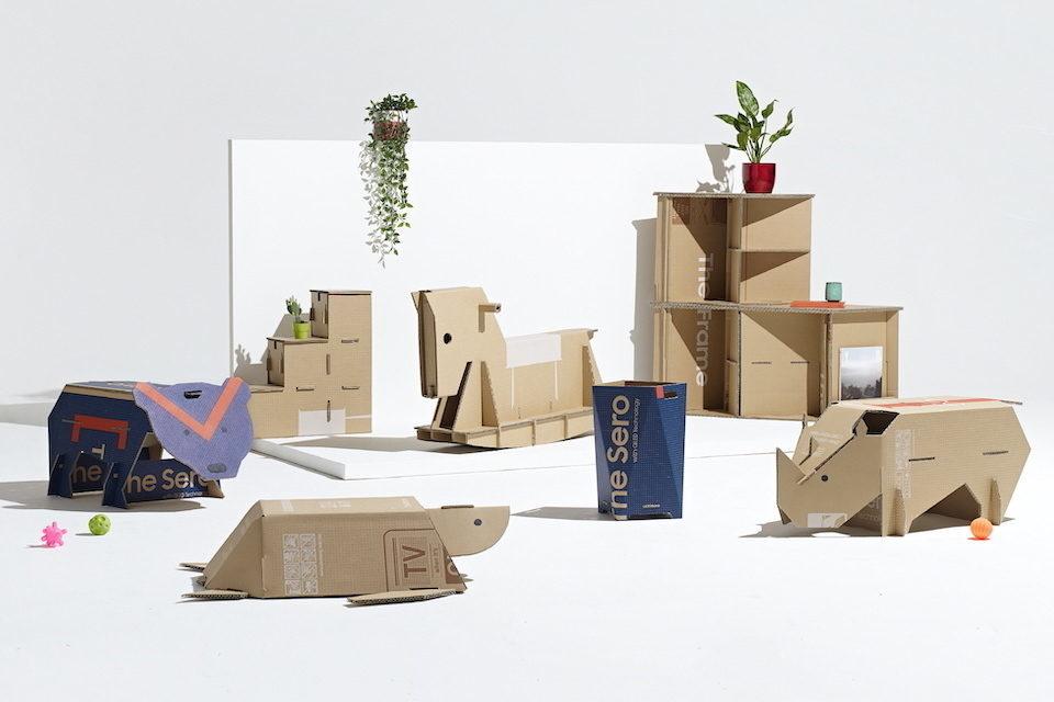 Samsung и журнал Dezeen подвели итоги конкурса креативных проектов из картонных коробок